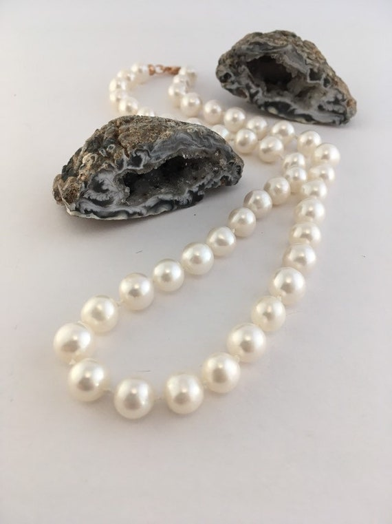 S - 790 Classic pearls hand knotted with rose gold plated 925 sterling silver
