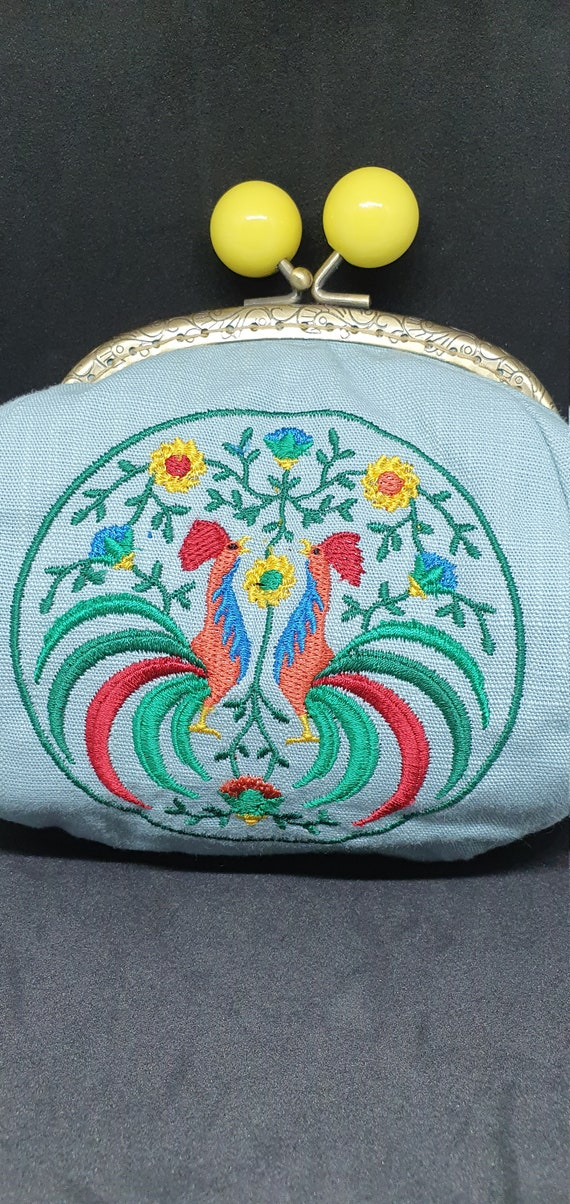 CP720.      The Polish rooster medallion coin purse.