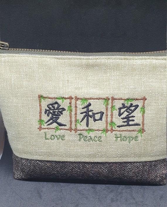 B752.     Kanji  cosmetic  bag.