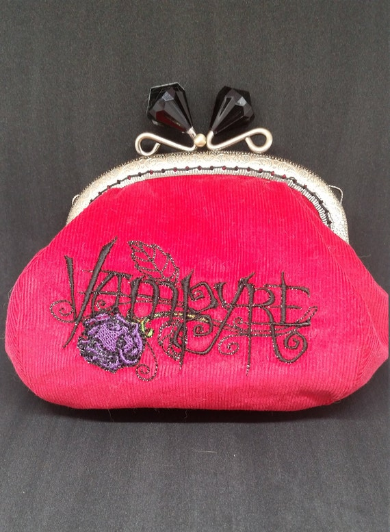 CP617. Blood red Vampyre coin purse