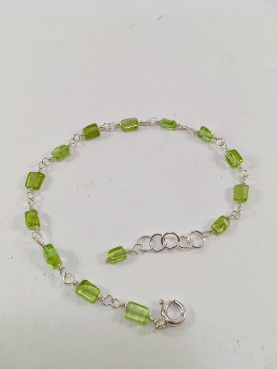 S - 592 925 Peridot bracelet
