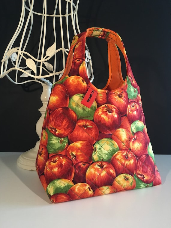 S - 660 Apples toddler shopper / lunch bag