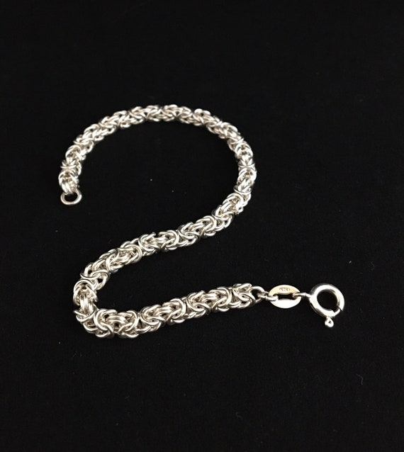 SB -011 Chainmaille bracelet, 925, sterling silver