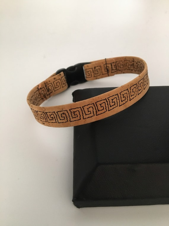S -081 Strap style bracelet, featuring the Greek key design
