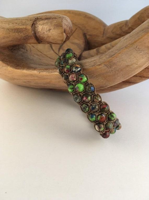 S - 878 Mens jasper bracelet
