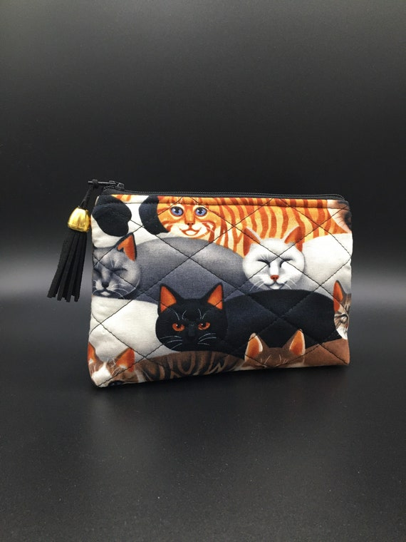 S - 030 Cats! Small cosmetics purse