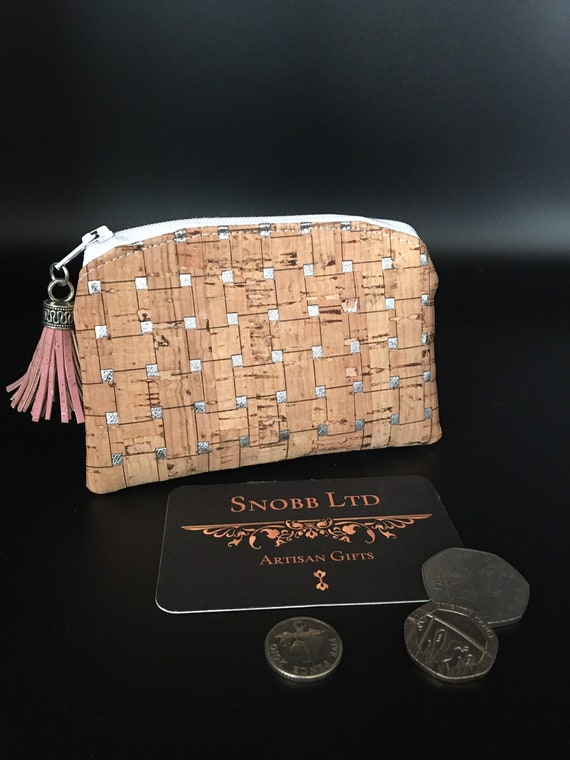 S - 086 Cork coin purse with tassel