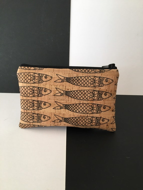 S - 092 Unusual cork pouch, fish design