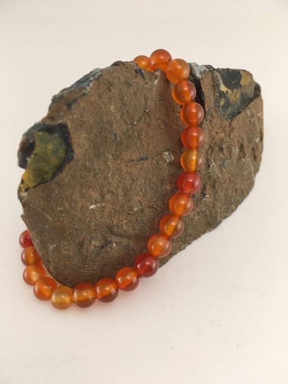 Sale - 852 Carnelian stretchy bracelet