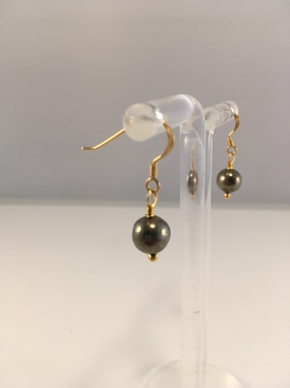 S - 683 Pyrite earrings with gold plated 925 sterling silver