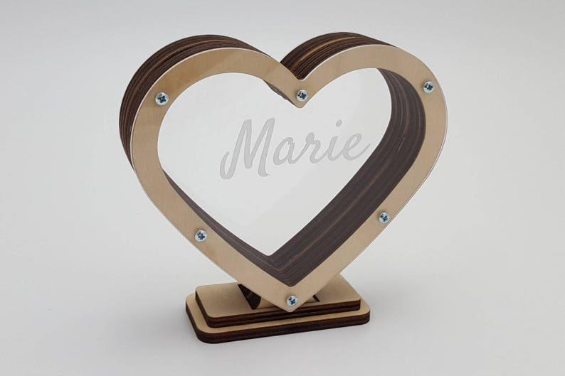 image 0 & Wooden money box Wedding gifts Love gift Honeymoon fund | Etsy