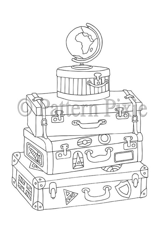 vintage coloring pages etsy - photo#19