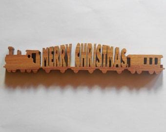 Christmas train table or shel decor,Trump Train