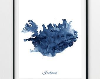graphic relating to Printable Iceland Map known as Iceland map print Etsy