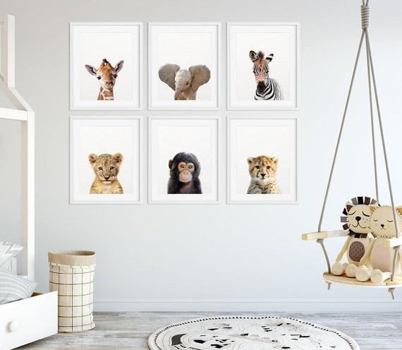 Safari Nursery Ideas: Safari Nursery Decor Baby Animals Set 6 Lion Zebra