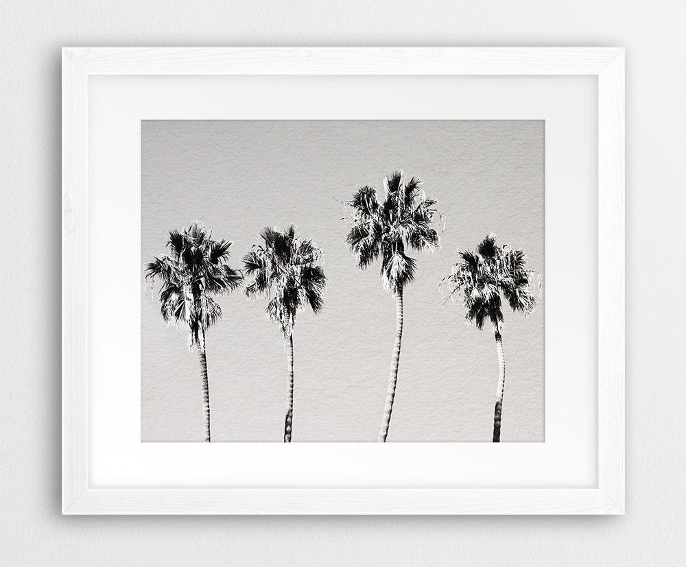Palm Tree Print Beach Decor Tropical Wall Art Coastal