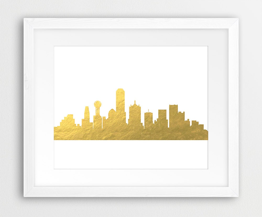 Dallas City Skyline Print Dallas Wall Art Dallas Texas | Etsy