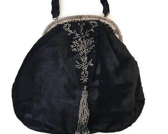 134782f516ee1 Velvet bag   Etsy