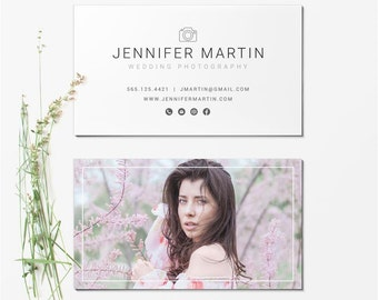 Business Card Template - Photographer Business Card - Photoshop Templates BCARD005