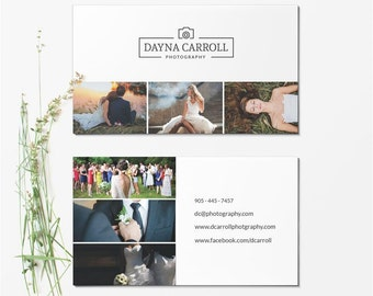 Business Card Template - Photographer Business Card - Photoshop Templates BCARD018