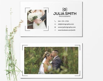 Business Card Template - Photographer Business Card - Photoshop Templates BCARD014