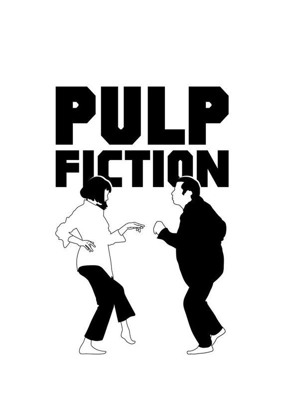 Pulp Fiction Poster Vector Art Illustrations