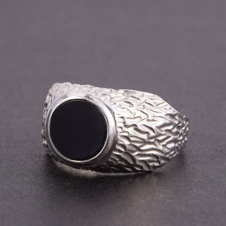 7ba9825c8290 Black stone ring Men ring silver Onyx ring Handsome ring | Etsy