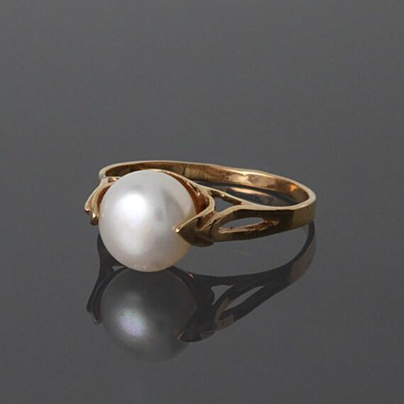 VENTA FINAL 50% perla anillo oro anillo perla blanca anillo | Etsy