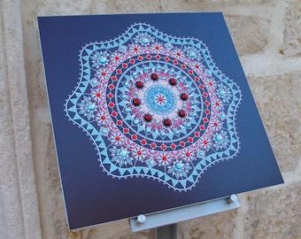 Mandala Snowflake - Esoteric decoration Sacred geometry Mandala handmade House & Home decor