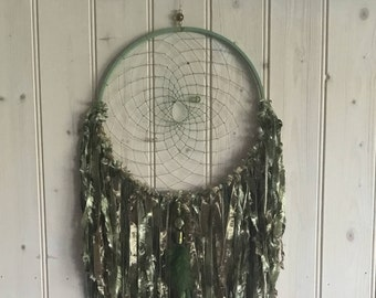 Large Dreamcatcher, large dream catcher, dreamcatcher, dream catcher, green dreamcatcher, wall hanging, gift for her, gift for girlfriend