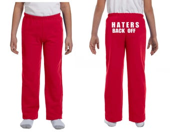 Haters Back Off Youth Sweatpants