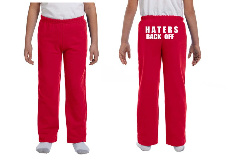 Haters Back Off Youth Sweatpants Etsy