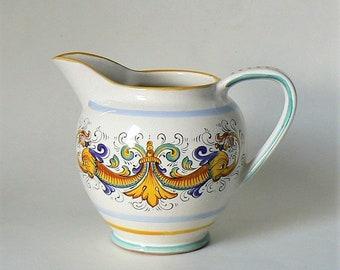 Vaso brocca ceramica ceramiche deruta italy lavorato a mano