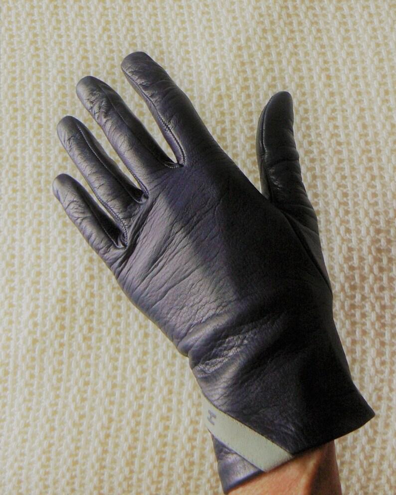 5bd90b231 Vintage Halston Gloves Women's Leather Gloves Gift for | Etsy