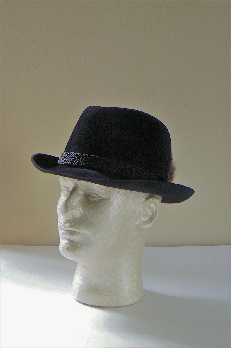 8aab5799a896e Vintage Fedora Men s Dobbs Hat Dobb s Black Fedora