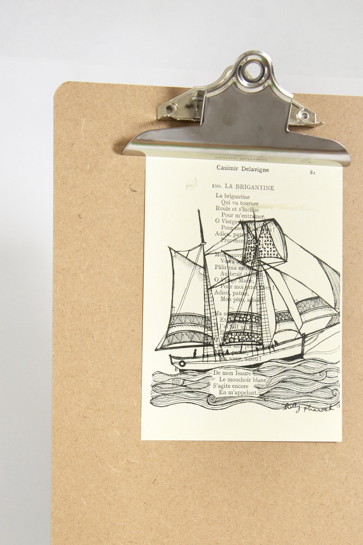 Brigatine Sailboat Sailboat Art Boat Art French Poetry Poetry Art