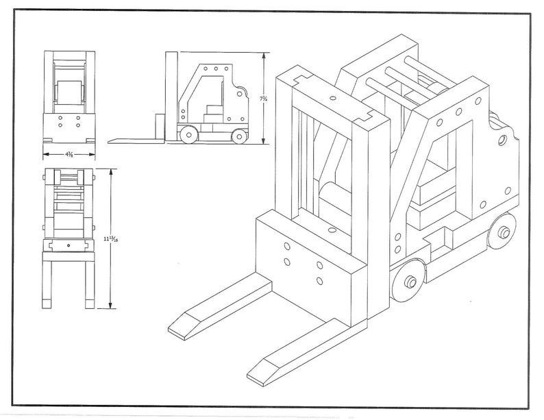 Wood Toy Plan Forklift