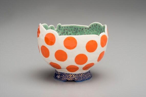Orange Bubbles Bowl
