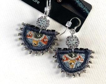 Semi Circular Earrings