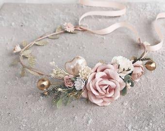 Flower crown, flower girl crown, flower crown wedding, flower crown for girls, flower girl flower crown