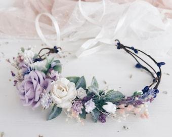 flower crown Lana Del Ray vintage inspired etsy wedding White rose rustic rose Wedding wedding headpiece nature inspired rose crown