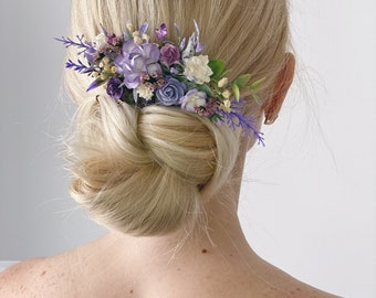 Ultra Violet flower bobby pin Purple wedding flower Bridal flower Small flower bobby pin Ultra Violet Wedding bobby pin hair accessory 719