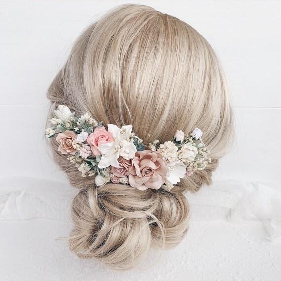 Fuchsia flower comb Wedding floral hair combWedding bridal headpieceFlower hair piece for girl Bride hair comb Wedding flower hair clip