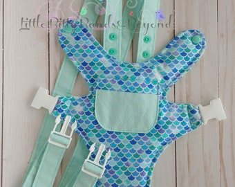 Mermaid Baby doll carrier | Bear carrier | Baby doll diaper | Waterproof Baby Alive diapers | Doll carrier