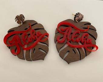 Aloha Red Earrings