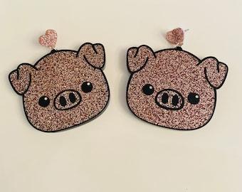 Pig Glitter Earrings