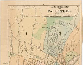 Hartford street map | Etsy