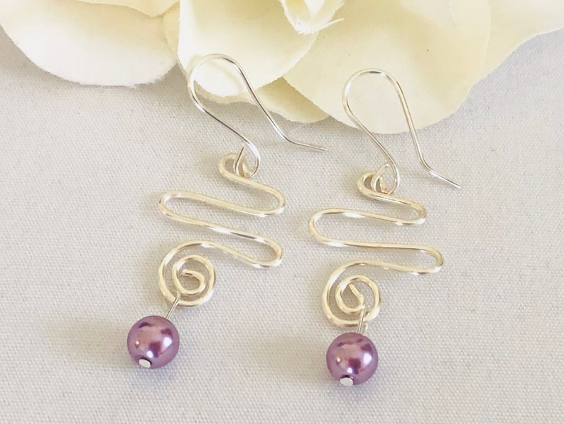 Wave Earrings Boho Earrings Bridal Earrings Womens Gift Ideas Spiral Earrings Statement Earrings