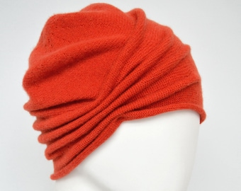 64e456c1604b80 Turban, Mütze, Winter,Kaschmir, Beanie, orange, sand, warm, Strick