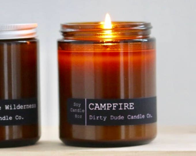 Campfire Candle Soy Candle 8oz